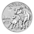 2021 1kg Lunar III Ox Silver Coin - Perth Mint