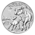 2021 1oz Lunar III Ox Silver Coin - Perth Mint