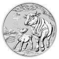 2021 2 oz Lunar III Ox Silver Coin - Perth Mint