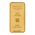 250g Gold Bar - Baird & Co Minted Certified