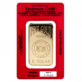 Emirates Gold 5 Tola Certicard Gold Bar