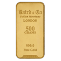 500g Gold Bar - Baird & Co Minted Certified