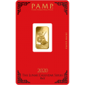 2020 PAMP 5g Lunar Rat GOLD Bar