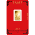 2019 PAMP 5g Lunar Pig GOLD Bar