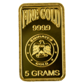 Emirates Gold 5 gram blister pack gold bar