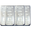 STORAGE ONLY - 5 x 1 Kilogram Silver Bar Baird & Co Bundle - VAT FREE