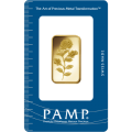 1/2oz Gold Bar - PAMP Rosa Certicard