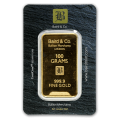 100g Gold Bar - Baird & Co Minted Certicard