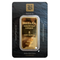 5oz Gold Bar - Baird & Co Minted Certified