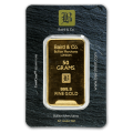 50g Gold Bar - Baird & Co Minted Certicard