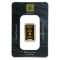 1/10oz Gold Bar - Baird & Co Minted Certicard