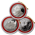 9 x 1oz Silver Christmas Round Bundle