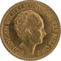 Netherlands 10 Guilders Gold Coin