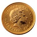 Half Shield Back Sovereign (Queen Elizabeth II Decimal)