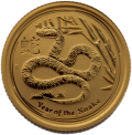 2013 1/10 oz Year of the Snake Gold Coin