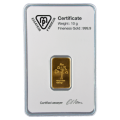 10g Gold Bar - Metalor Minted Certified