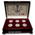 Cook Islands 2008 Tall Ships of The 20th Century Silver Proof Coin Set