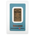 1 Tola Gold Bar - Valcambi Blue Certified