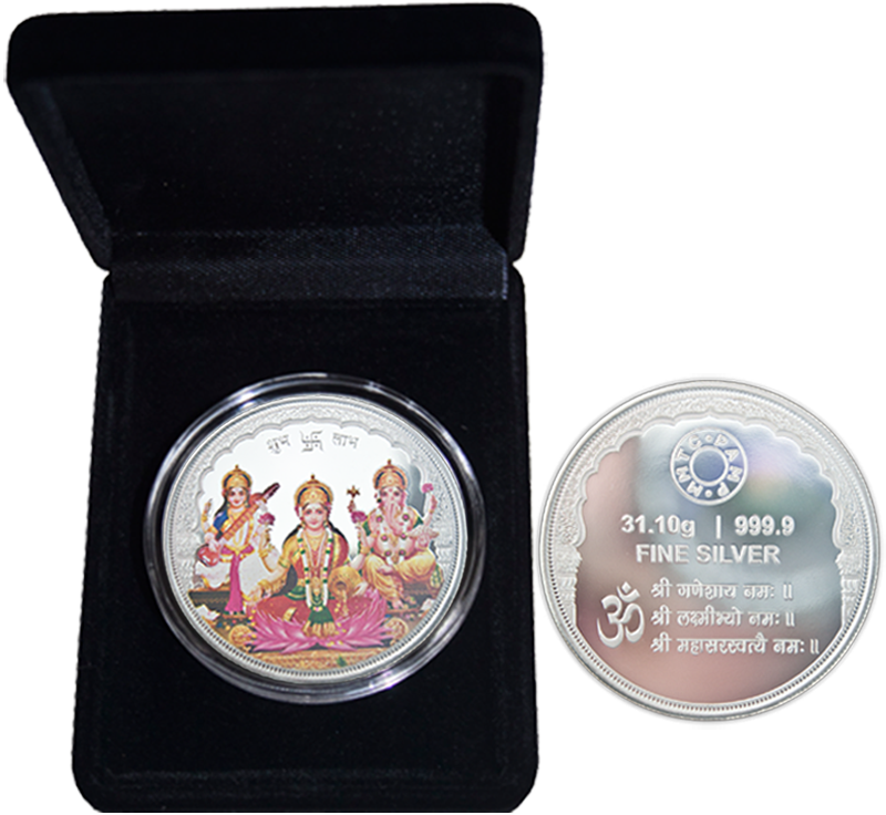 1oz Tri-God Silver Coloured Round in Presentation Box