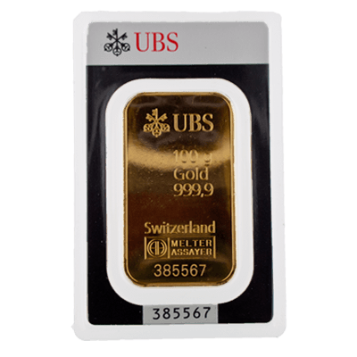 Ubs 100g Minted Gold Bar