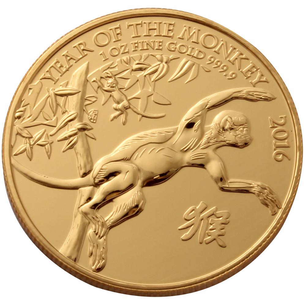 2016 Royal Mint 1oz Monkey Gold Coin
