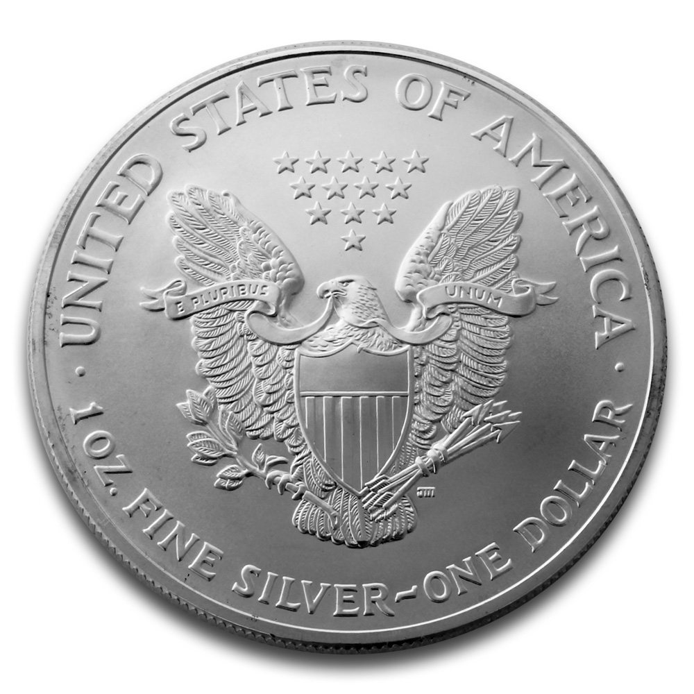 1oz Silver Eagle American 1oz Silver Bullion Coin Gold