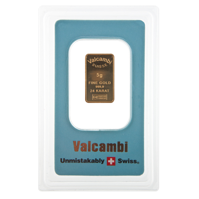 5g Gold Bar - Valcambi Blue Certified