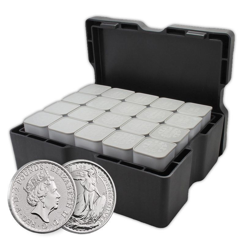 15 5kg Silver Britannia 2018 Monster Box 500 Coins