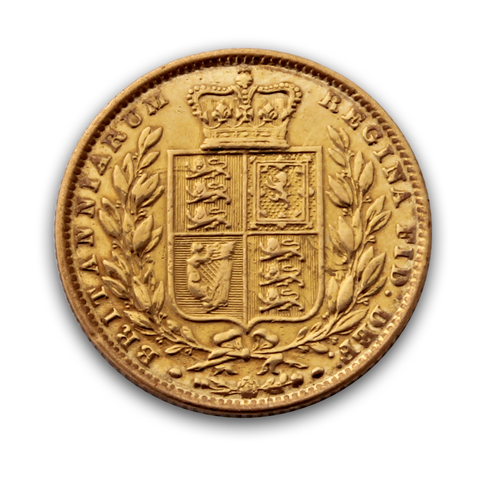 Victoria Young Head Shield Victoria Gold Sovereign Coin