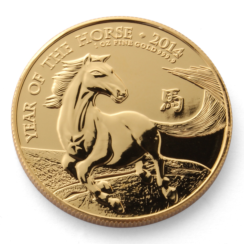 Royal Mint Year of the Horse 1oz Gold Coin