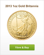2013 1oz Gold Britannia Offer