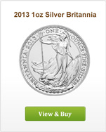 2013 1oz Royal Mint Silver Britannia
