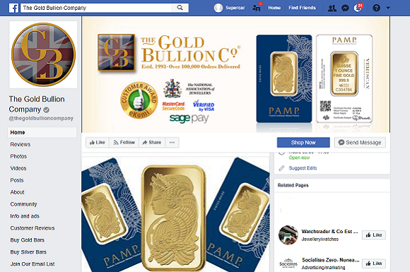 Discover The Gold Bullion Company Facebook Page