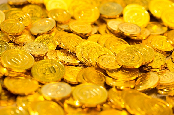What are gold coins made of?