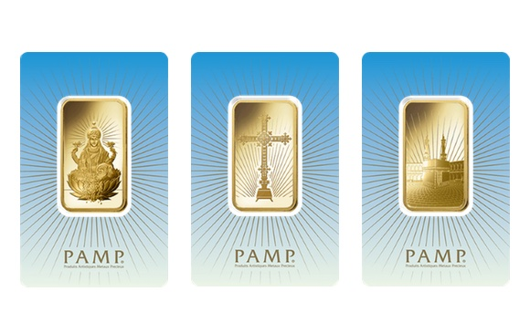 PAMP Faith Series Gold Bullion Bars
